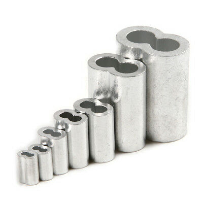 Lots of Alloy Sleeves Fitting Ring Loop Crimps Rope Ferrule Rigging 1.5mm to 8mm