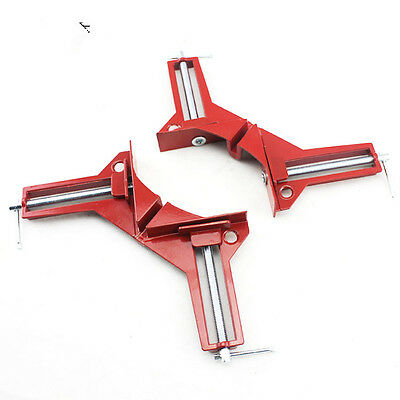 Pair 90° Right Angle T Clamp Woodworking Frame Clamp DIY Glass Fish Bowl Folder