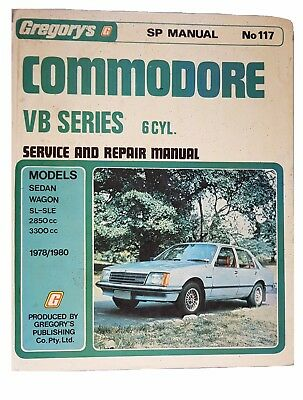 Gregorys Holden Commodore VB Series 6cyl 1978-1980 Service and Repair Manual