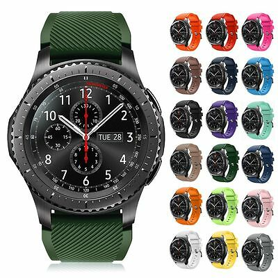 UK Silicone Bracelet Strap Watch Band For Samsung Gear S3 Frontier/Classic 22mm