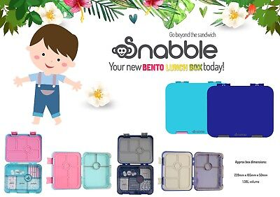 Bento lunch box, 6 compartments, new exclusive design, yumbox style by Snabble