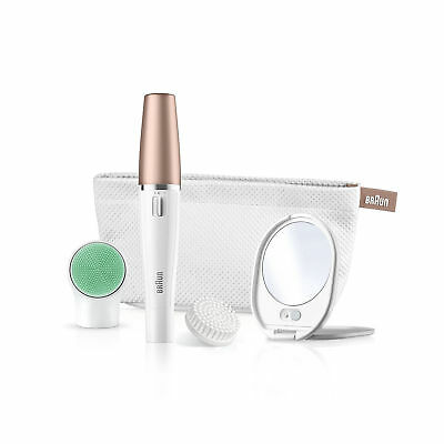 Braun FaceSpa  851V 3-in-1 Facial Epilator For Hair Removal And Cleansing Brush