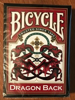 NEW 1 Deck Bicycle Red Dragon Back Playing Cards--Free Shipping