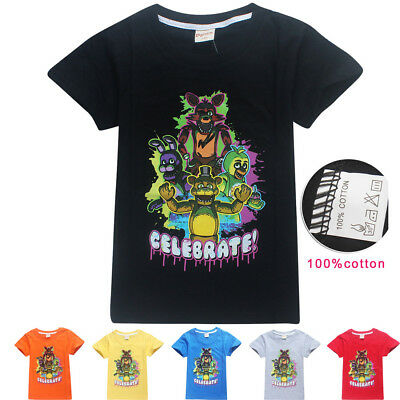 Five Nights at Freddy's Game Cartoon Kids girls boys T-Shirts Tops tshirts new