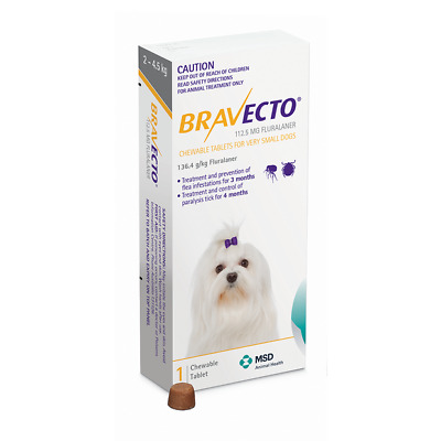 Bravecto For Dogs 1 Chew ALL SIZE