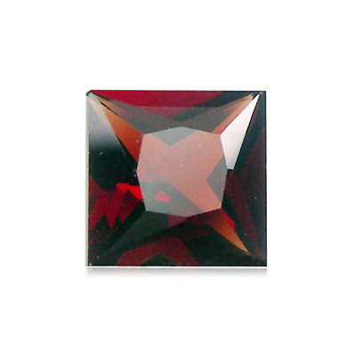 Natural Mozambique (Red) Garnet AAA Square Princess-Cut (4x4-9x9mm) Loose Stone