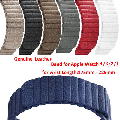 Magnetic Loop Genuine Leather Band Strap For Apple Watch Series 40/44mm 4/3/2/1