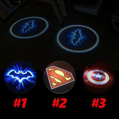 2 pcs Wireless Welcome Light LED Logo Projector Ghost Shadow light Laser Lights