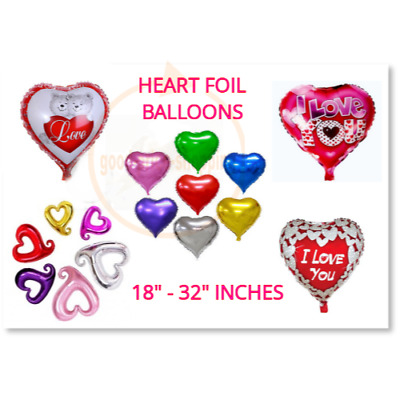 Heart Foil Helium Balloons Valentines Day Wedding Party Engagement Decor BALOONS