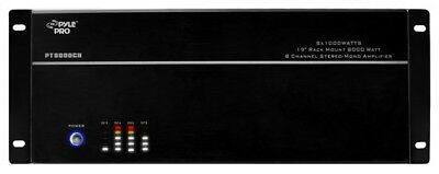 Pyle 8 Channel 8000W High Power Professional Power Amplifier Multi Zone Install