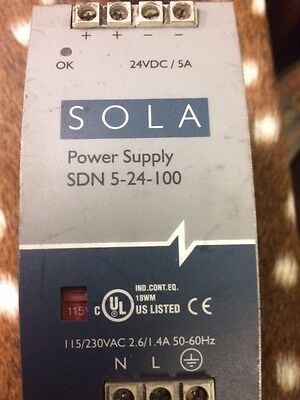 Sola Sdn 5-24-100 Power Supply 24Vdc