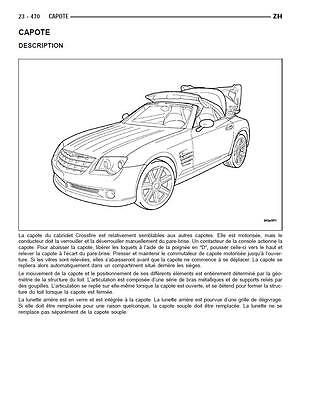 manuel atelier entretien réparation technique maintenance Chrysler Crossfire  Fr