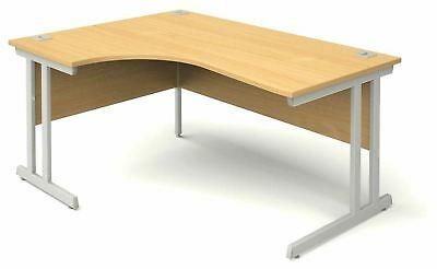 Radial 1400mm Left or Right Hand Desk in Beech