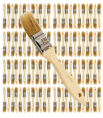 96 Pk- 1 inch Chip Paint Brushes for Paint, Stains,Varnishes,Glues,Gesso