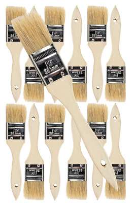 12 Pk- 1.5 inch Chip Paint Brushes for Paint, Stains,Varnishes,Glues,Gesso