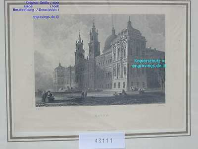 43111-Portugal-Portuguesa-MAFRA-Stahlstich-Steel engraving-1870