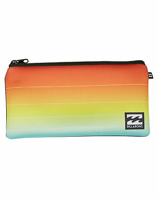 New Billabong Small Pencil Case Neoprene Gifts Orange