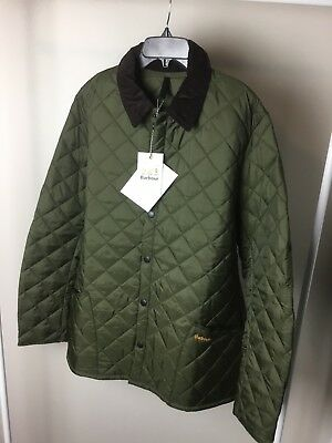 NWT Barbour Heritage Liddesdale Quilted Jacket Olive Men's  XL