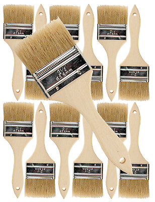 12 Pk- 2 1/2 inch Chip Paint Brushes for Paint, Stains,Varnishes,Glues,Gesso