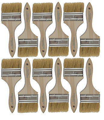 12 Pk- 3 inch Chip Paint Brushes for Paint, Stains,Varnishes,Glues,Gesso