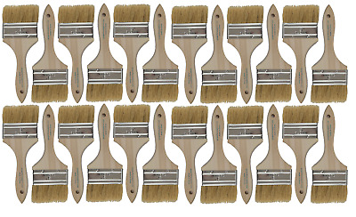 24 Pk- 3 inch Chip Paint Brushes for Paint, Stains,Varnishes,Glues,Gesso
