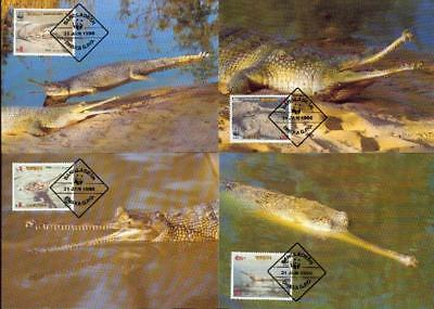 Bangla-Desh crocodile Krokodil 4 MC MK Bangladesch bq00