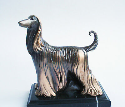 Afghan hound Dog Bronze Sculpture Limited Edition Handmade Worldwide delivery