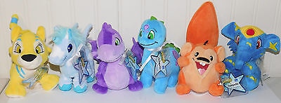6 Series 3 Chomby Uni Kougra Meerca Scorchio Neopets Plush Unused Code NEW