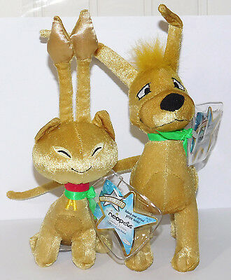 Gold Gelert & Aisha Neopets Limited Edition Series 1 Plush Unused Code NEW 2007