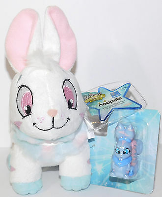 Striped Cybunny Easter Neopets Walmart Figure & Plush Unused Code NEW 2008