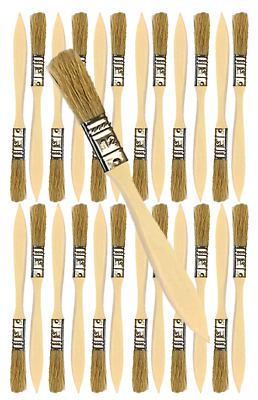 24 Pk- 1/2 inch Chip Paint Brushes for Paint, Stains,Varnishes,Glues,Gesso