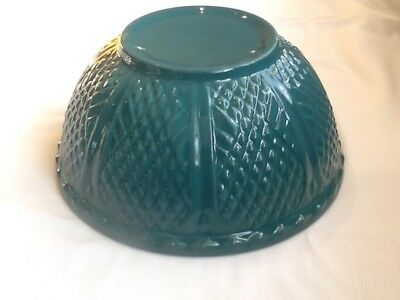 Roseville Rrp Co Diamond Pattern 8 Inch Bowl In Dark Teal  Green Awesome