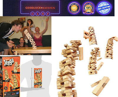 Jenga Party Classic Family Crazy Game Wooden Blocks Stacking Tumbling Tower Fun!