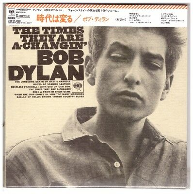 Bob Dylan  ‎– The Times They Are A-Changin'  ( CD Paper Sleeve , Japan )
