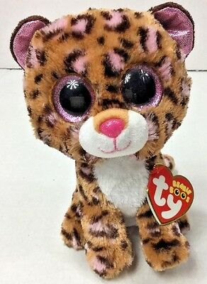 """TY BEANIE BOOS Patches 6"""" Pink & Brown Leopard  Birthday June 5th New with Tags"""