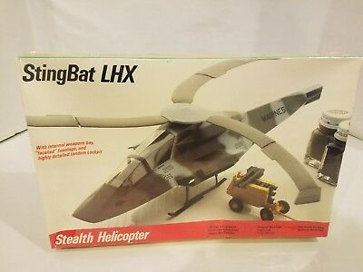 Testors StingBat LHX Stealth Helicopter 1/48 scale model kit #635 - New & sealed
