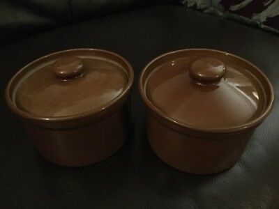 Pearsons Of Chesterfield Casserole Lidded Dish X 2
