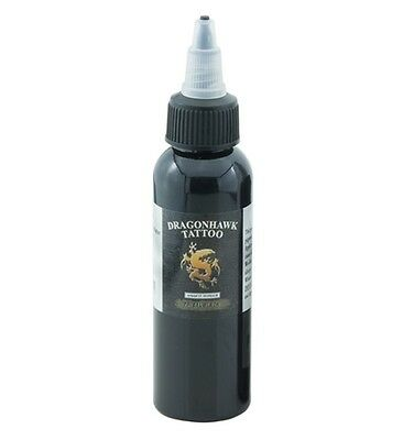 DragonHawk Tattoofarbe Tribal Black Schwarz 60ml Tattoo Farbe Tätowierfarbe Ink