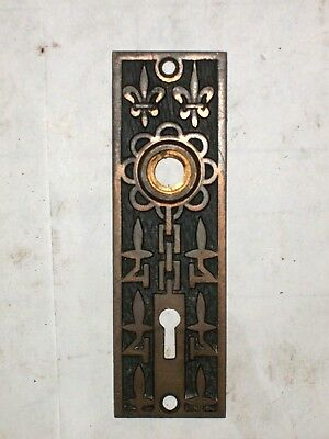 Antique Mallory & Wheeler Co. Door Knob Backplates