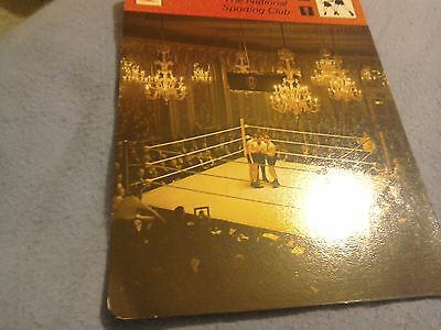The national sporting club new boxing sportscard