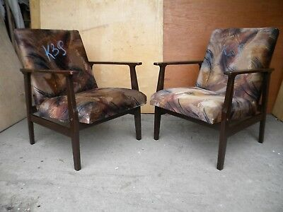 K39 RETRO VINTAGE PAIR of ARM CHAIRS produced in 1960-70th