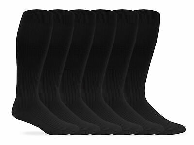 Jefferies Socks Mens Classic Nylon Rib Over the Calf Dress Socks 6 Pair Pack