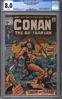 Conan the Barbarian #1 (Oct 1970, Marvel) CGC 8.0 WHITE pages!