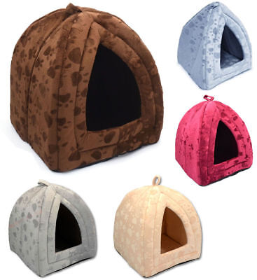 Pet House Igloo Warm Insulated Padded Cave Bed house Dog Cat Kitten