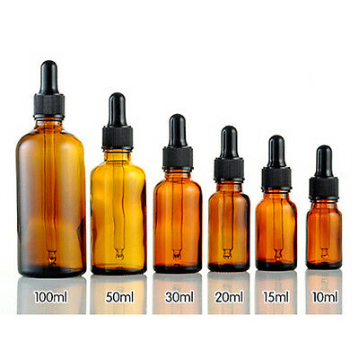 5-100ml  Glass Reagent Liquid Pipette Bottle Eye Dropper Drop AromatherapyRDF
