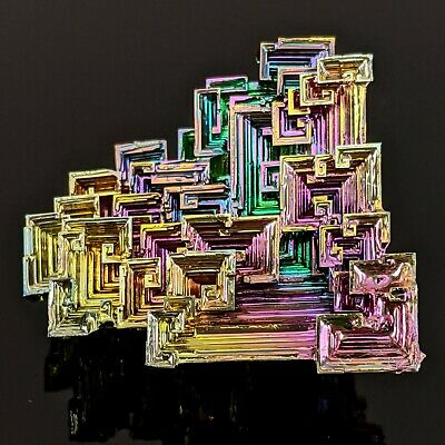GEMCORE: One (1) Lg Rainbow Bismuth Crystal Display Mineral Specimen Education