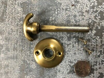 Vintage unused old stock Penn Hardware closet door knob spindle 18TPI thumb turn