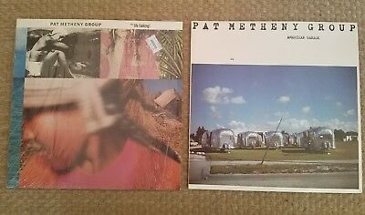 Lot of 2 Pat Metheny Group LP Records Still Life Talking American Garage