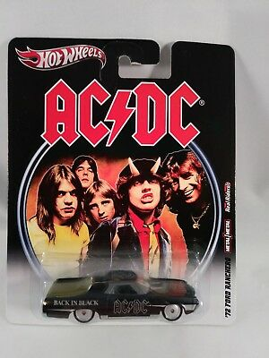 Hot Wheels 2012 Nostalgia Real Riders AC/DC Back in Black 72' FORD RANCHERO NEW!
