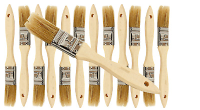 12 Pk- 1 inch Chip Paint Brushes for Paint, Stains,Varnishes,Glues,Gesso